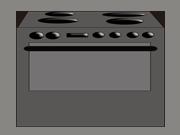 Kitchen stove - wide